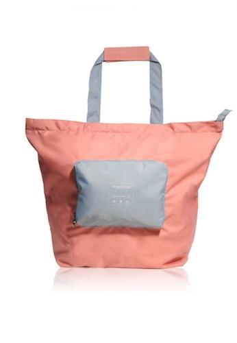 Monocozzi pink Bon Voyage - Traveler Foldable Spare Bag (Large) - Coral E12FCACEAE200BGS_1
