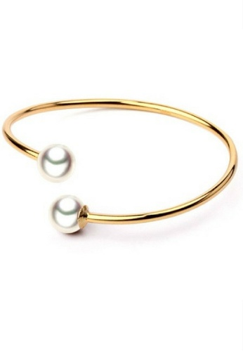 Vivere Rosse gold Twelfth Night 925 Sterling Silver Pearl Bangle VI014AC61XJMMY_1
