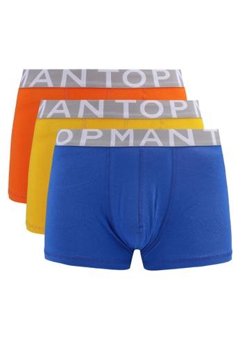 Topman multi Assorted Colour Trunks 3 Pack B4A5AUS3017B73GS_1