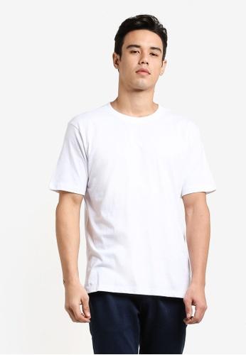 MANGO Man 素色圓領短袖T恤 MA449AA19EEAMY_1