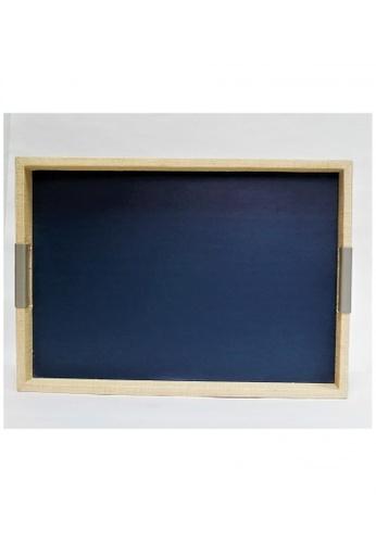 Grassroots blue Rectangular Tray (Medium) 3ED35HL8975FC6GS_1