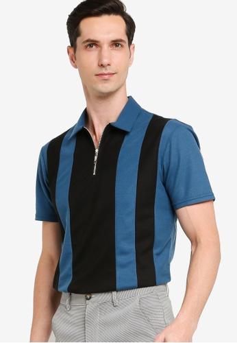 ZALORA BASICS 多色 Colourblock Polo Shirt 3D3FAAAEAF9BDEGS_1