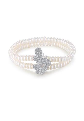 SUNRAIS silver Premium Color Stone Silver Simple Design Bracelet 18D4AAC7668DB7GS_1