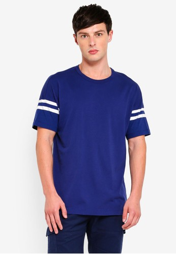 French Connection blue Tipping Stripe Tee 5E4E8AAF70A63AGS_1