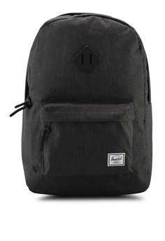 f186c83b124 Herschel black Heritage Backpack 3C8D4AC3EDD28FGS 1