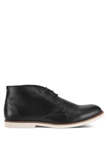 Acuto black Leather Chukkas AC283SH0SL6GMY_1
