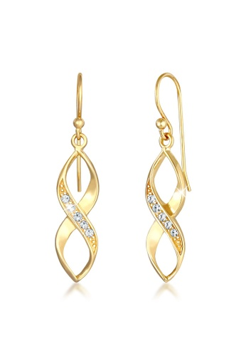 ELLI GERMANY gold Earrings Infinity Crystals 65D8CACD9F47D1GS_1