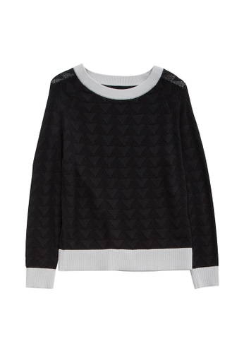 KLAPS black Openwork Sweater A9A54AA6C943ADGS_1