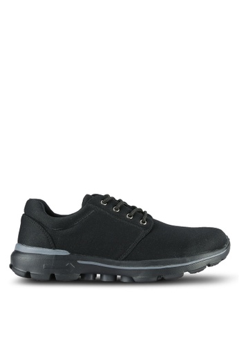 UniqTee black Sport Mixed Sneakers UN097SH0RS4OMY_1