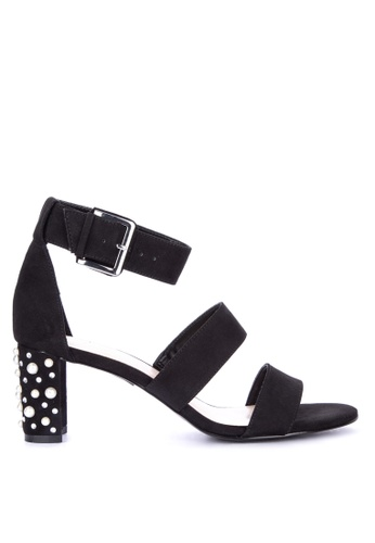 Nine West black Pailing Heeled Sandals 173BFSH1DAB06EGS_1