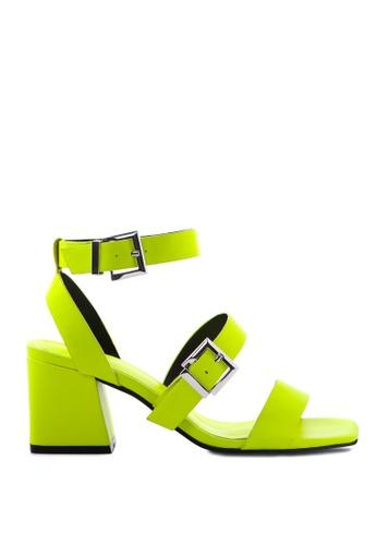 London Rag green Contrast Colour Ankle Straps Sandal 303B0SHC49753FGS_1