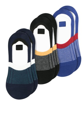 Hush Puppies black and blue and navy Basic Invisible Sock 42FC2AA99CB343GS_1