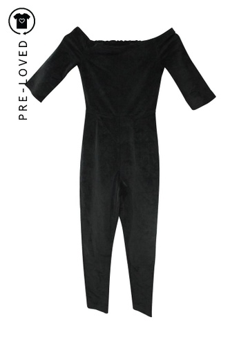 Reformation black Pre-Loved reformation Black Corduroy Jumpsuit CDC0EAA281D66FGS_1