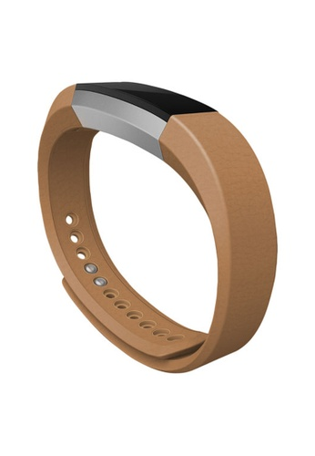 Fitbit brown Fitbit Alta Accessory Band Leather Camel (Large) FI132SE40XDVSG_1