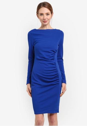 Dorothy Perkins blue Scoop Back Bodycon Dress 04D0FAAD23CEBFGS_1