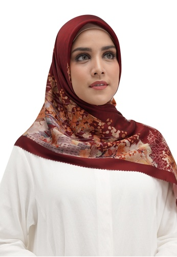 Buttonscarves red Buttonscarves New York Reborn Satin Square Times Square 12BDCAABD995D3GS_1