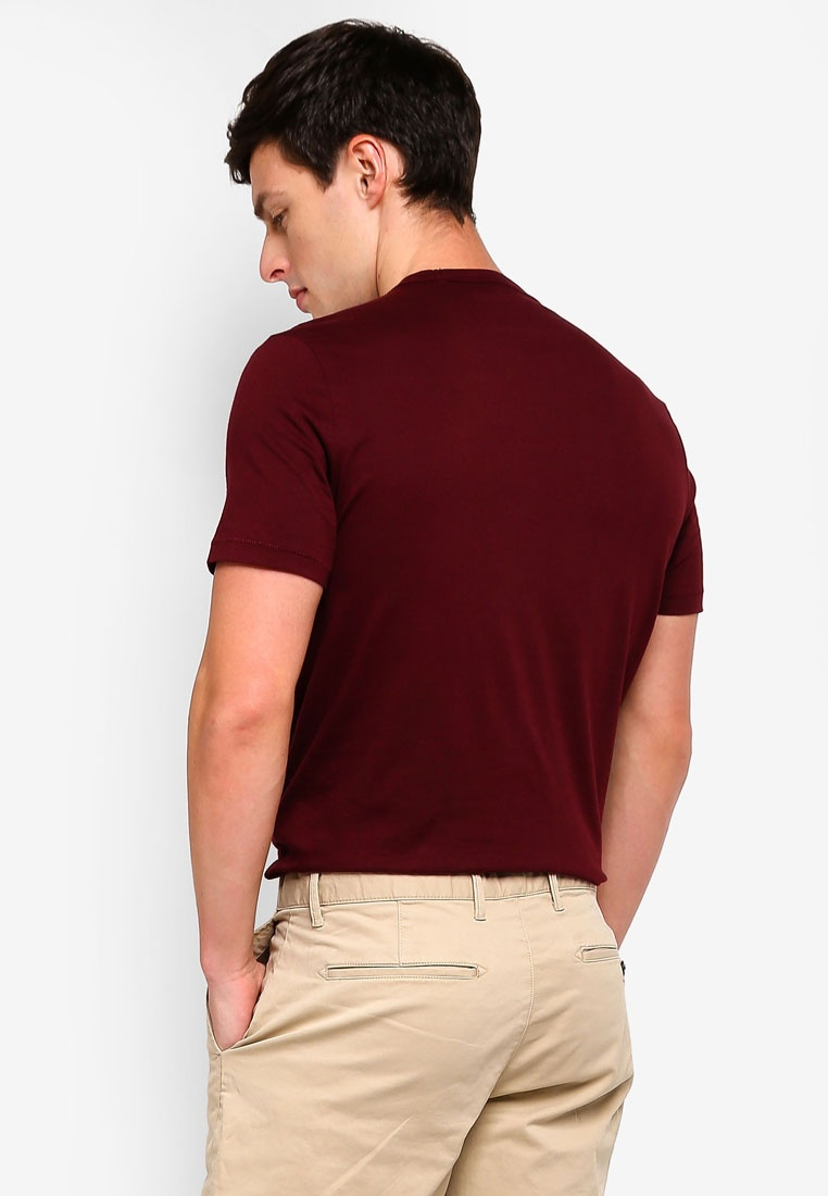 GAP Neck T Noir 796 Logo Crew Shirt Pinot w4znFFIqT