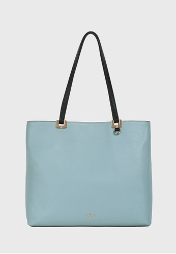 Tocco Toscano blue and multi and navy Rosé Square Tote (Light blue/Navy) B91D6AC637E44BGS_1
