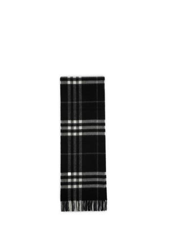 Burberry black Check cashmere scarf 09BA3AC63A5F8FGS_1