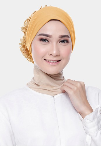 zelena yellow Dalaman Hijab Inner Ciput Turkey Brokat - Honey Gold 906ECAA12D08B2GS_1
