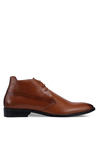 Acuto brown Leather Business Shoes A80F4SH5453C0FGS_1
