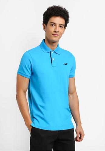 Hollister blue WS Polo Shirt DA1D5AA7E324E2GS_1
