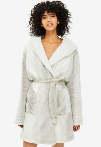 TOPSHOP multi Snow Leopard Robe 37913AA53B0F60GS_1