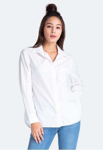 Levi's white Levi's Ultimate Boyfriend Shirt Women 77653-0020 C728CAAE7ECCFFGS_1