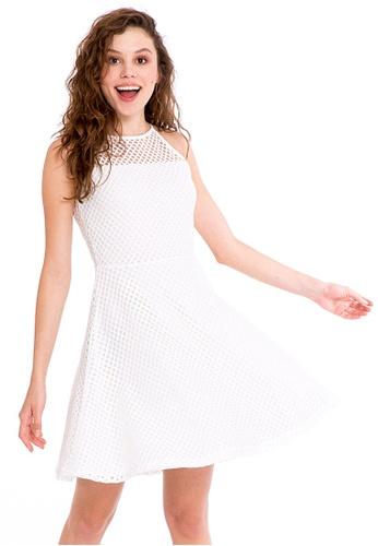 LC Waikiki white Mesh Detailed Dress 62AE6AAC4535CEGS_1