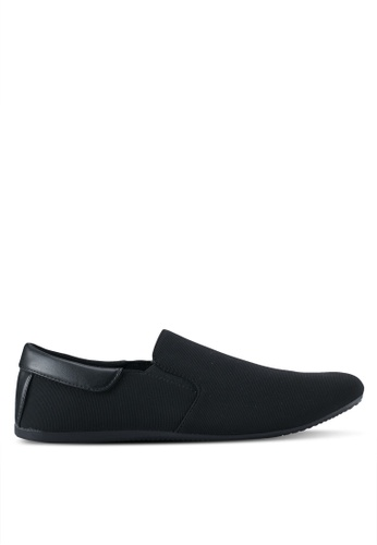 UniqTee black Classic Textile Loafers UN097SH0SYS9MY_1