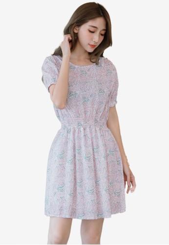 Eyescream white Vintage Print Dress 90433AA2EAA27AGS_1