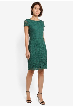 Dorothy Perkins Green Crochet Lace Pencil Dress S$ 109.00. Available in  several sizes