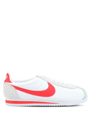 Nike white and red Nike Classic Cortez Nylon Shoes 61BEFSHF77ADD8GS_1