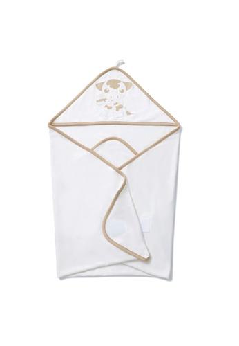 Vauva white Vauva My MY Milk Fiber Baby Blanket with Hood Design D5954KC5405E42GS_1