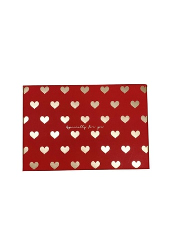 Klosh Gift Box - Red With Gold Hearts (Small) E3EAAHL0E18904GS_1