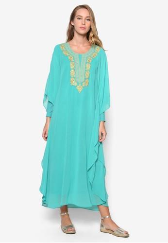 繡花長袖洋裝, 服飾, 女esprit台灣性服飾