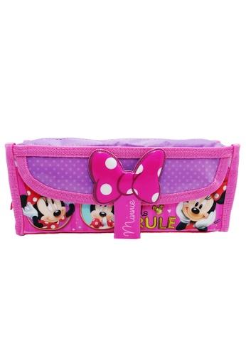Disney Minnie pink Disney Minnie Mouse Square Pencil Bag With Pocket DBCBFKC35F001AGS_1