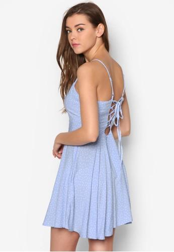 背部繫帶印花esprit tst洋裝, 服飾, 洋裝