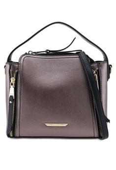 51cf8f056e0a3 VINCCI grey Faux Leather Top-Handle Bag 9C568AC9F99516GS_1