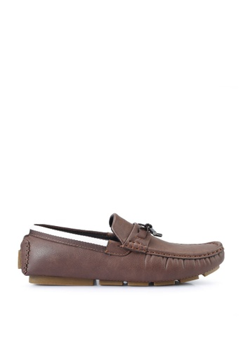 UniqTee brown Penny Loafers with Lace 60C70SHFAAFCD0GS_1