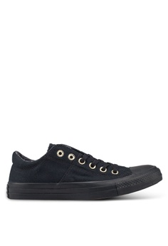 d57868bf8015 Converse black Chuck Taylor All Star Madison Croc Canvas Ox Sneakers  61797SH3F69947GS 1