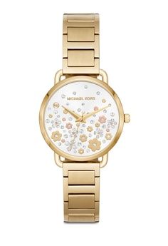 e1523bb6eb637 MICHAEL KORS gold Portia Gold-Tone Watch MK3840 0FEB8AC5872718GS 1