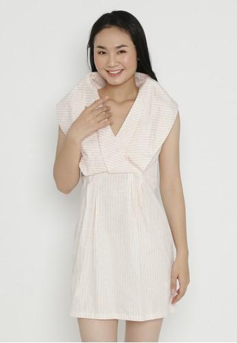 Mobile Power pink Mini Dress Stripe Peach Mobile Power Ladies - OK40012 853E0AA1076BF0GS_1