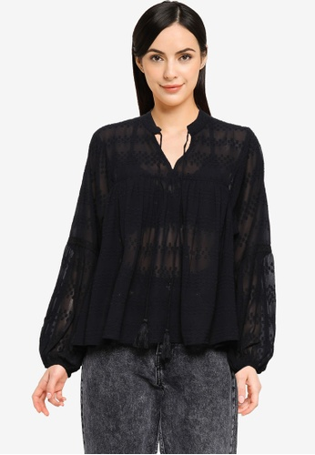 ONLY black Elisa Long Sleeves Blouse 63FA7AAB669DB3GS_1