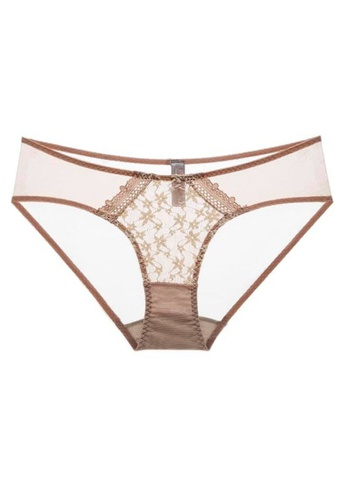 QuestChic white and pink and multi Cheryl Soft Sheer Brief E7058US6BE0E39GS_1