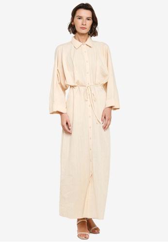 ZALIA BASICS beige Batwing Shirt Dress 84F3BAA04CDB86GS_1