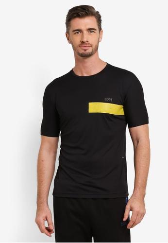 Boss Green black Tijotech T-Shirt BO516AA0RICNMY_1