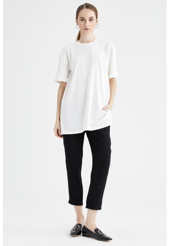 DeFacto black Cropped Trousers 4F11FAA11358C5GS_1