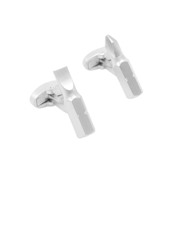 Glamorousky silver Fashion Personality Tool Screwdriver Cufflinks 97933AC61BDFBBGS_1