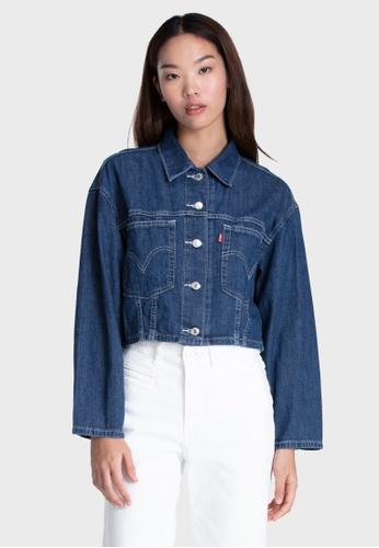 Levi's blue Levi's Cropped Cool Trucker Jacket Women 85698-0000 A1D56AA0326351GS_1